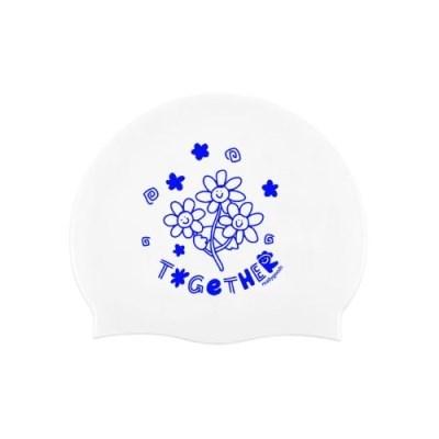 [리굿스]Smile Flower 수영모자 White