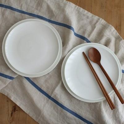 심플 본차이나 접시(중.대) 4P