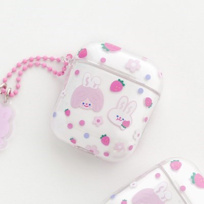 AIRPODS CLEAR CASE - STRAWBERRY JUICE
