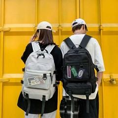 남자 여자 공용 커플가방 학생가방 거미망 데일리 백팩