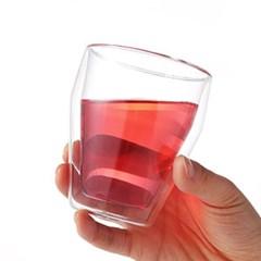까사무띠 폴리고노 이중유리 쥬스컵 (250ml)