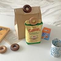 우드 도넛 봉지집게 밀봉클립 2color