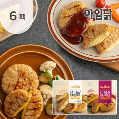 [아임닭] 닭가슴살 더블스테이크100g 2종 6팩