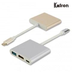칼론 KC-HG02 USB3.1+HDMI+Type-C 멀티 변환 컨버터 골_(1823765)