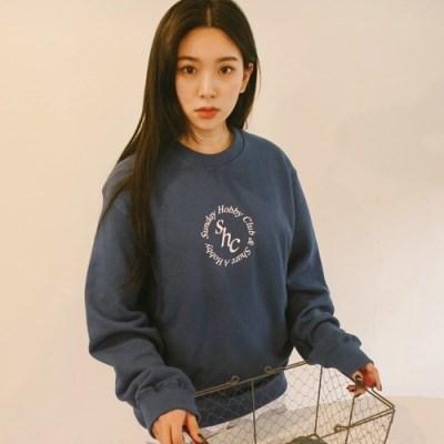 서클 로고 스웨트셔츠-블루
