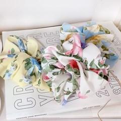 [3개세트][3color] 클로드 모네 수채화 꽃 플라워 스크런치 세트