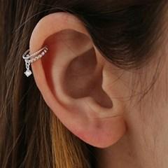 star cubic layered ear cuff C015