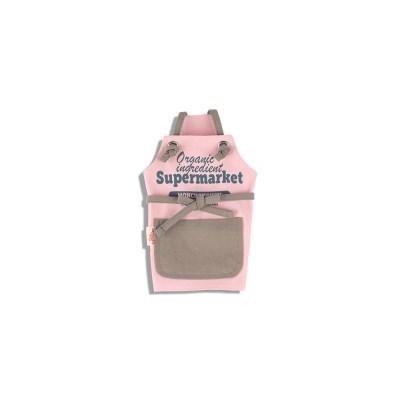 [monchouchou] 24hours Supermarket Apron_Pink Salt