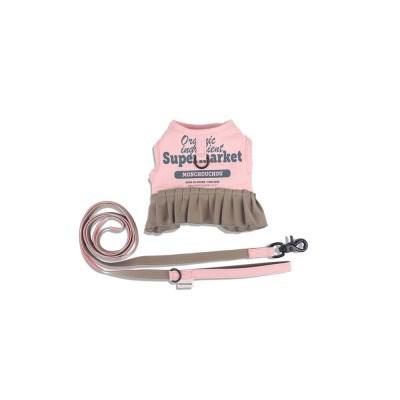 [monchouchou] Frilly Supermarket Harness Set_Pink Salt