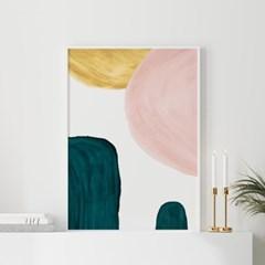 에메랄드하프 추상화 그림 액자 포스터