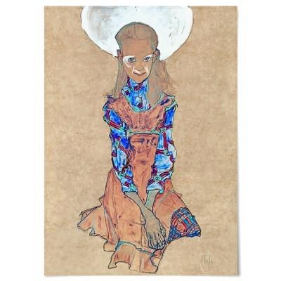 패브릭 포스터 초상화 일러스트 그림 액자 에곤 쉴레 76