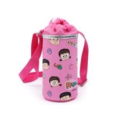 흔한남매 패턴 물병가방 핑크