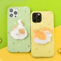 나인어클락 하드 고양이 냥 패턴 슬림 케이스+냥이 젤리톡 세트