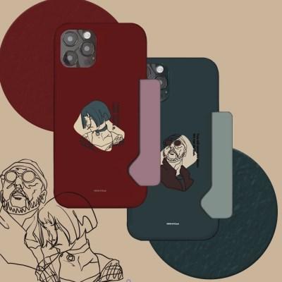 선글라스와 단발 하드 카드수납 카드슬림 케이스 갤럭시노트