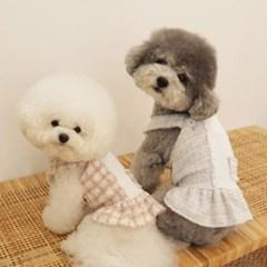 스노우 트위드 강아지원피스 2color 몽앤치크