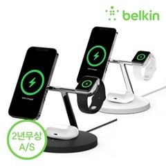 벨킨 3in1 맥세이프 15W 무선충전기 스탠드 WIZ009kr