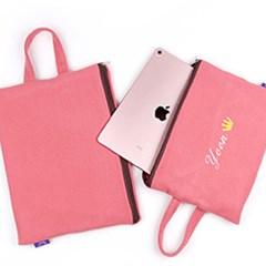 핑크 아이패드 갤럭시탭 태블릿 파우치 가방/이름자수 핸드폰가방