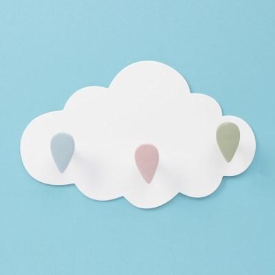접착식 뭉게구름 후크(3구) 모자걸이 벽후크