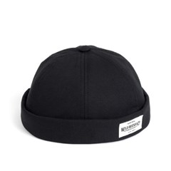 LB COTTON BRIMLESS CAP (black)