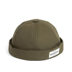 LB COTTON BRIMLESS CAP (khaki)