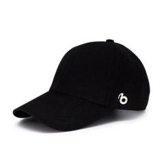 RBB 베이직 오버핏 로고 볼캡 블랙