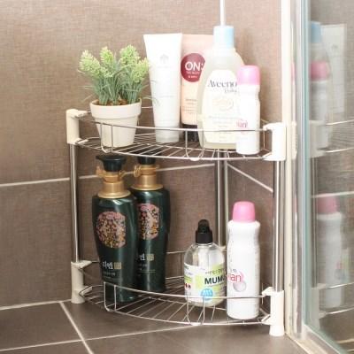 스테인레스 코너 욕실선반 2단 1+1