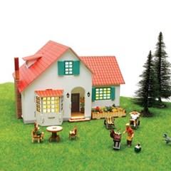 우드락+목재 입체퍼즐 - 영공방 스페인풍 전원주택