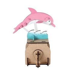 오토마타 목재 입체퍼즐 - 영공방 춤추는 돌고래 돌리