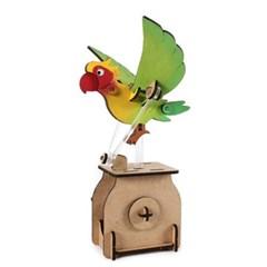 오토마타 목재 입체퍼즐 - 영공방 날으는 앵무새