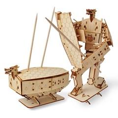 변신로봇 목재 입체퍼즐 - 영공방 거북선 (BETA)