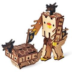 변신로봇 목재 입체퍼즐 - 영공방 아기거북선