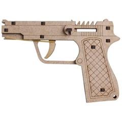 고무줄 총 목재 입체퍼즐 - 영공방 베레타 권총