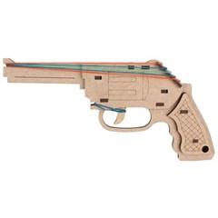 고무줄 총 목재 입체퍼즐 - 영공방 카우보이 총