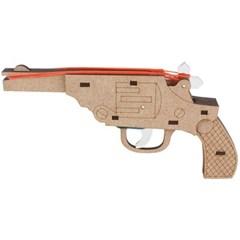 고무줄 총 목재 입체퍼즐 - 영공방 리볼버 권총