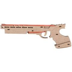 고무줄 총 목재 입체퍼즐 - 영공방 어린이 사격용 총