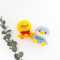 [손뜨개 DIY 키트] 꼬꼬마 코바늘 펭귄 오리 인형 만들기