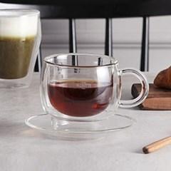 까사무띠 카페 이중유리 커피잔세트 (180ml)