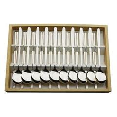 티타늄 조각 설매화 10벌 수저세트 세트박스 27종