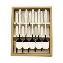 티타늄 조각 설매화 5벌 수저세트 세트박스 27종