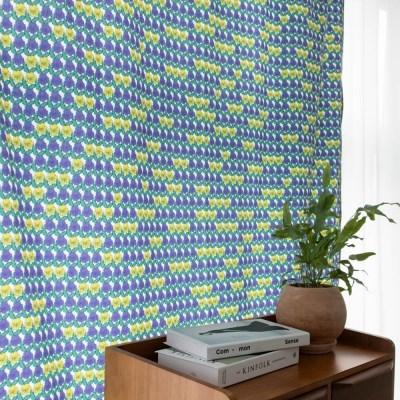 팝빈티지 LIKE A PANSY (Yellow-White) 행잉프린트 커튼_(1178498)