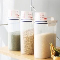 쌀보관 소분용기 사료통 잡곡통 시리얼통 2kg