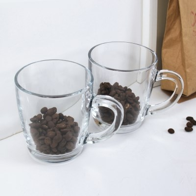 커피 한잔 유리 머그 2P set