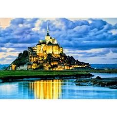1000피스 직소퍼즐 - 몽생미셸 성의 구름낀 하늘
