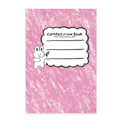 크레파스 컴포지션 카드 토끼 (핑크)