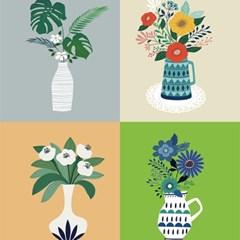 아젤스토리스티커_ flower in a vase set