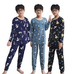 스누피 아동 피치기모 잠옷 상하세트 실내복 파자마