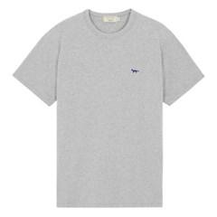 메종키츠네 네이비폭스 패치 클래식 티셔츠 그레이멜란