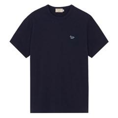 메종키츠네 네이비폭스 패치 클래식 티셔츠 네이비 /반