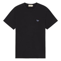 메종키츠네 네이비폭스 패치 클래식 티셔츠 블랙 /반팔/