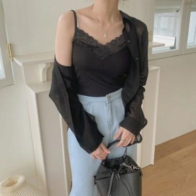 여성나시 모달 레이스 민소매 속옷